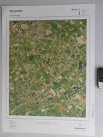 GROTE LUCHT-FOTO DENTERGEM WONTERGEM AARSELE In 1990 48x67cm KAART 1/10000 ORTHOFOTOPLAN TOPOGRAPHIE PHOTO AERIENNE R707 - Dentergem