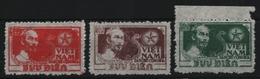 Vietnam 1951 - Mi-Nr. 4-6 (*) - Ohne Gummi Verausgabt - Ho Chi Minh - Viêt-Nam
