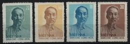 Vietnam 1957 - Mi-Nr. 57-60 (*) - Ohne Gummi Verausgabt - Ho Chi Minh - Viêt-Nam
