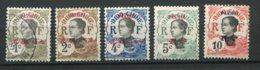 13451 PAKHOI  N° 34, 35, 36, 37, 38 */(*)/ ° Timbres D'Indochine De 1907 Surchargés   1908  B/TB - Unused Stamps
