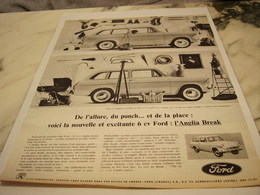 ANCIENNE PUBLICITE L ANGLIA BREAK  AUTO FORD  1961 - Cars