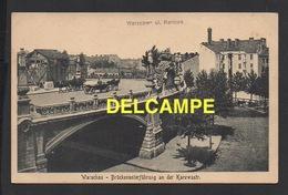 DD / POLOGNE / WARSZAWA , VARSOVIE / PONT ET PASSAGE SOUTERRAIN RUE KAROWA / ANIMÉE / 1920 - Poland