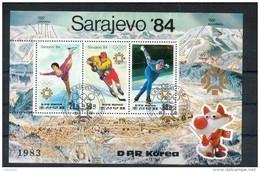 Corée Du Nord. Mini Feuille. Jeux Olympiques De Sarajevo - Corée Du Nord