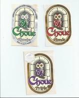 France Brasserie De Vauclair 3 étiquettes - Beer