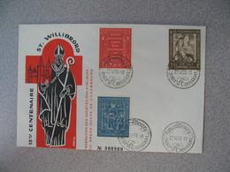 Enveloppe  De Luxembourg  1958  N° 542 à 544    13 ème Anniversaire De La Naissance De Saint-Willibrord    à Voir - FDC