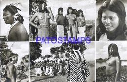 114324 PARAGUAY COSTUMES NATIVE INDIOS MULTI VIEW DETAILS POSTAL POSTCARD - Paraguay