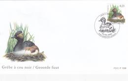 FDC Timbre N° 3546 -  Grèbe à Cou Noir  - Buzin - 1985-.. Oiseaux (Buzin)