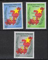 """Congo YT 315 à 317 """" Travail, Démocratie, Paix """" 1971 Neuf** - Congo - Brazzaville"""