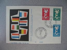 Enveloppe  De Luxembourg  1958  N° 548 à 550   Europa     à Voir - FDC