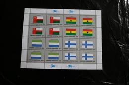 United Nations UN NY New York 462-65 Oman Sierra Leone Ghana Finland Flags Sheet MNH 1985 A04s - New York – UN Headquarters