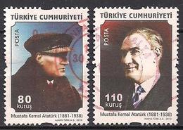 Türkei  (2010)  Mi.Nr.  3835 + 3836  Gest. / Used  (11ff50) - 1921-... Republiek