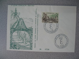 Enveloppe  De Luxembourg  1958  N° 552   Timbres Touristiques      à Voir - FDC