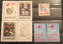 Yugoslavia, 1990, Mi: ZZ 183/87A, 187C (MNH) - Ungebraucht
