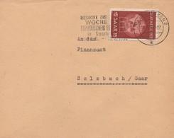 RR8  Sarre - 8 VIII 1952  - Besucht Die Woche Des Europaïschen Bergmanns In Sarbrücken   TTB  Durso V30  (8) - 1947-56 Occupazione Alleata
