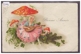 BONNE ANNEE - CHAMPIGNONS - B ( PLI D'ANGLE ) - Nouvel An