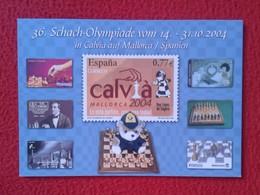 POSTAL POST CARD DE AJEDREZ CHESS Échecs SCHACH XADREZ OLYMPIADE 2004 CALVIÁ MALLORCA SPANIEN SPAIN OLIMPIADA VER FOTOS - Postales