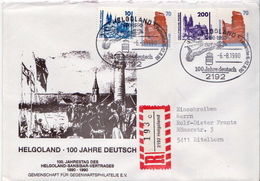 Postal History: Germany R Cover Sent From Helgoland - [7] Federal Republic