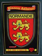 CARTE  BLASON ADHESIF DE NORMANDIE - Basse-Normandie