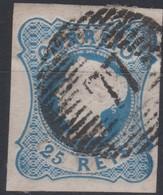 1853 D. MARIA II 25 REIS - DUAS MARGENS CURTAS - DEUX MARGES COURTES - TWO SHORT MARGINS - 1853 : D.Maria