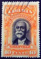 Liberia 1903 President Lettre Chargée Greenville Yvert LC11 O Used - Liberia