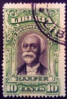 Liberia 1903 President Lettre Chargée Harper Yvert LC12 O Used - Liberia