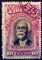 Liberia 1903 President Lettre Chargée Robertsport Yvert LC14 O Used - Liberia