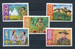 Fujeira  1971 Mi # 679 B - 683 B  SCOUTS RELAY JAPAN 71r MNH - Fujeira