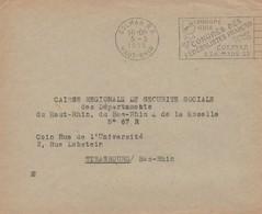 RR13  France - Colmar R.P. - 5 3 1953  - Congrès Des Fédéralistes Français   Superbe  Durso C40  (9) - France