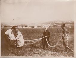 ITALIAN AVIATION EXPERIMENTS ITALIAN AIR FORCE PARACHUTE  MONTECOLIE ROME FRERI   21*16 CM Fonds Victor FORBIN 1864-1947 - Aviation