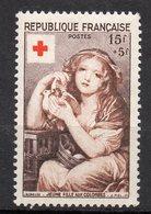 1954--Croix-Rouge  N° 1007 .--Jeune Fille Aux Colombes  --NEUF--gomme Intacte--cote  16 €  .........à  Saisir - France