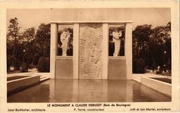 Paris Le Monument De Claude Debussy ( Bois De Boulogne Belle Carte Rare Très Bon état - Autres Monuments, édifices