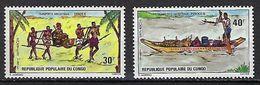 "Congo YT 373 & 374 "" Transport Ancestraux "" 1975 Neuf** - Congo - Brazzaville"