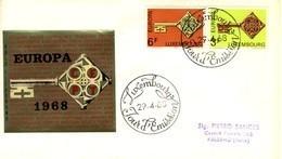 *1968 - LUSSEMBURGO - EUROPA - BUSTA FDC.+3 - FDC