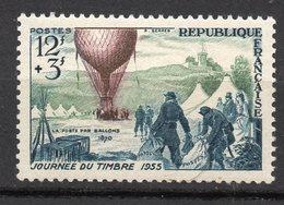 1955-- Journée Du Timbre  N° 1018 .--Départ D'un Ballon  --NEUF--gomme Intacte--cote  6 €  .........à  Saisir - France