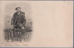 64- Type-  Pays Basque-  Vieillard  -      N° 45  Ed  ND   - CPA  1900 - Frankrijk