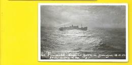"""Carte Photo Rare Du Paquebot """"FOUCAULD"""" Dans Golfe De Gascogne 1934 (Photo-Océan) - Paquebots"""