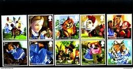 GREAT BRITAIN - 2015  ALICE IN WONDERLAND SET  MINT NH - Unused Stamps