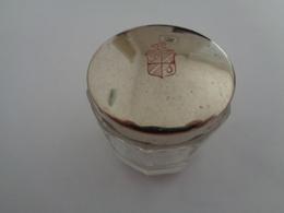 Petit Pot En Verre Poudre Couvercle Argenté - Jewels & Clocks