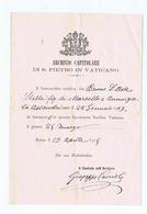 MONSIGNOR GIUSEPPE CASCIOLI ( TIVOLI ) CUSTODE ARCHIVIO CAPITOLARE S. PIETRO IN VATICANO -  AUTOGRAFO / AUTOGRAPH - 1915 - Autographs