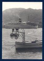 Photo. Paquebot Et Barque Pour La Pêche Aux Lamparos - Boten