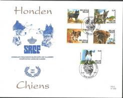 Belgium 2002 Mi 3114-3118 FDC ( FDC ZE3 BLG3114-3118b ) - Chiens