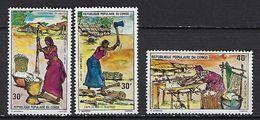 "Congo YT 387 à 389 "" Travaux Ménagers "" 1975 Neuf** - Congo - Brazzaville"