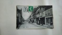 Mamers Rue Nationale Prise De La Rue Carnot 1908 Chapellerie Breton  Sarthe - Autres Communes