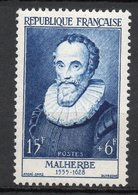 1955-- Personnages Célèbres--MALHERBE  N° 1028 .--NEUF--gomme Intacte--cote  20 €  .........à  Saisir - France