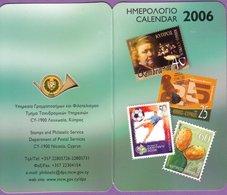 Calendrier °° 2006 - Philatélie Timbres - Nicosie Chypre - 6x10 - Calendriers