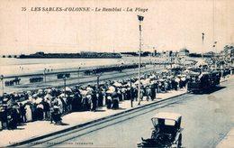 LES SABLES D OLONNE  LE REMBLAI LA PLAGE - Sables D'Olonne