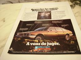 ANCIENNE  PUBLICITE VOITURE MODELE 1307 DE SIMCA 1977 - Cars