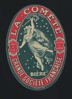 """étiquette Bière  La Commette  Grand Societe Française Chalons Sur Marne  """" Femme"""" - Beer"""