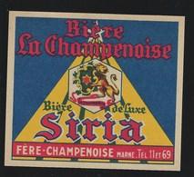étiquette Bière De Luxe Stria Biere La Champenoise Ferea Champenoise Marne - Beer