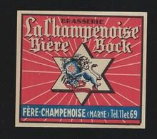 étiquette Bière Bock  Biere La Champenoise Fere Champenoise Marne - Beer